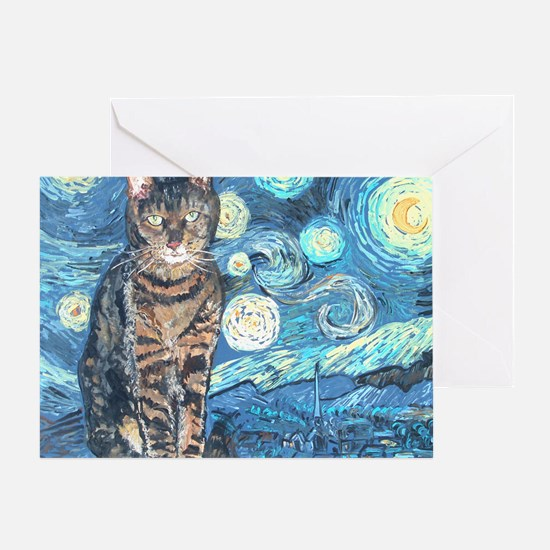 MouseLite StarryCat Greeting Card