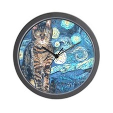 MouseLite StarryCat Wall Clock
