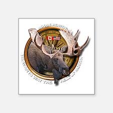 "Moose Hunting Square Sticker 3"" x 3"""