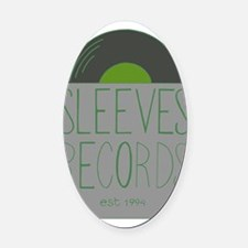 WS_sleeves_GREEN Oval Car Magnet