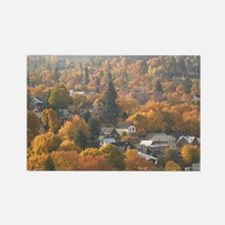 Nelson. Autumn View of Town from  Rectangle Magnet