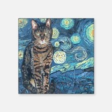 "Mouse StarryCat Square Sticker 3"" x 3"""
