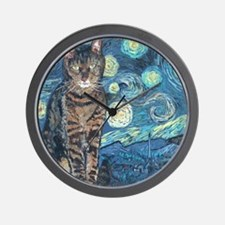 Mouse StarryCat Wall Clock