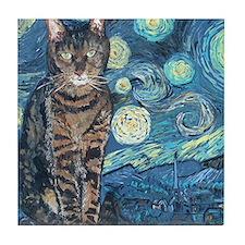Mouse StarryCat Tile Coaster