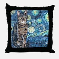 Mouse StarryCat Throw Pillow