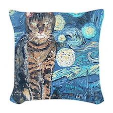 SQLite StarryCat Woven Throw Pillow