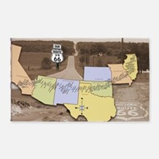 Route 66 Poster Sepia 3'x5' Area Rug