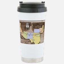 Route 66 Poster Sepia Stainless Steel Travel Mug