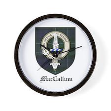MacCallum Clan Crest Tartan Wall Clock