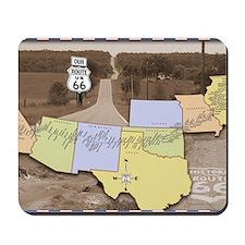 Route 66 Poster Sepia Mousepad