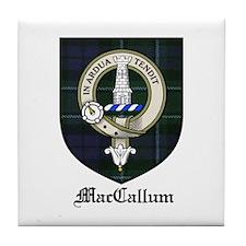 MacCallum Clan Crest Tartan Tile Coaster