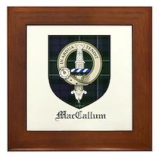 MacCallum Clan Crest Tartan Framed Tile