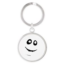 Trick or Treat Smell My Feet Round Keychain