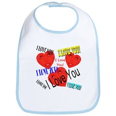 I Love You Over & Over Bib