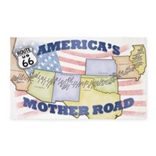 Route 66 Mother Road Poster 3'x5' Area Rug