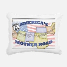 Route 66 Mother Road Pos Rectangular Canvas Pillow