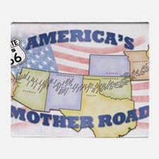 Route 66 Mother Road Poster Throw Blanket