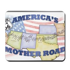 Route 66 Mother Road Poster Mousepad