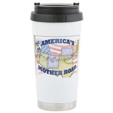 Route 66 Mother Road Poster Travel Mug