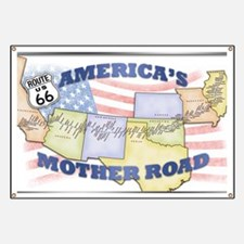 Route 66 Mother Road Poster Banner