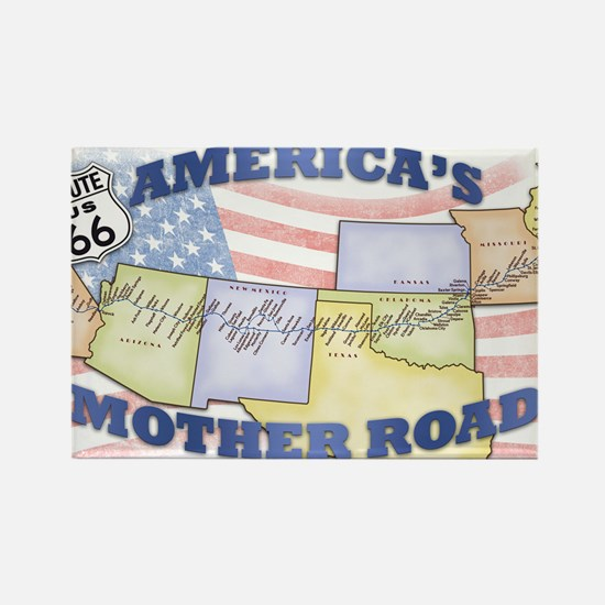 Route 66 Mother Road Poster Rectangle Magnet