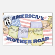 Route 66 Mother Road Post Postcards (Package of 8)