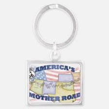 Route 66 Mother Road Poster Landscape Keychain