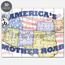 Route 66 Mother Road Poster Puzzle