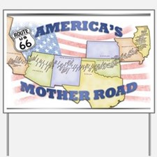 Route 66 Mother Road Poster Yard Sign