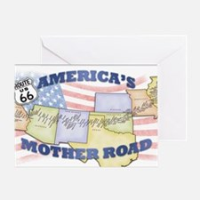 Route 66 Mother Road Poster Greeting Card