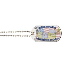 Route 66 Mother Road Poster Dog Tags