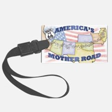 Route 66 Mother Road Poster Luggage Tag