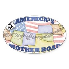 Route 66 Mother Road Poster Decal
