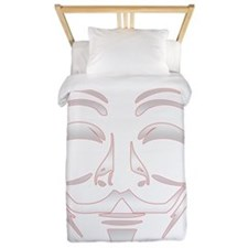 Occupy_NoBorderfor_DarkShirt Twin Duvet