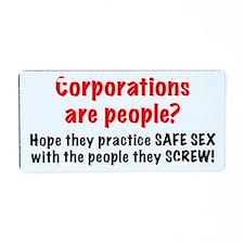 corporate messenger bag fin Aluminum License Plate