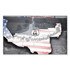 Route 66 Flag Poster Decal
