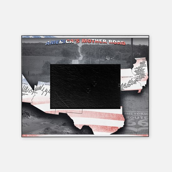 Route 66 Flag Poster Picture Frame