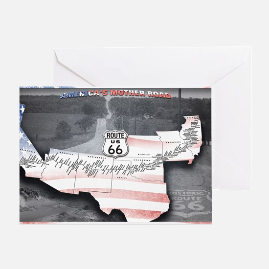Route 66 Flag Poster Greeting Card