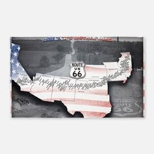 Route 66 Flag Poster 3'x5' Area Rug