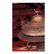 Rug and copper wood burne Postcards (Package of 8)