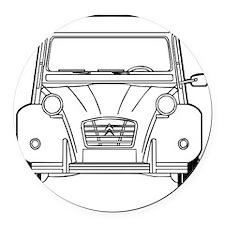 Citroen 2CV front Round Car Magnet