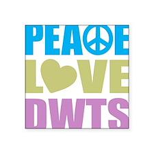 "peacelovedwts Square Sticker 3"" x 3"""