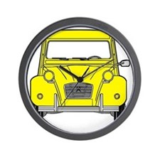 Citroen 2CV front yellow Wall Clock