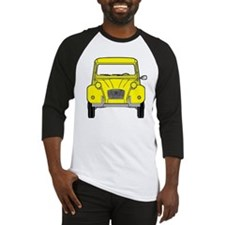 Citroen 2CV front yellow Baseball Jersey