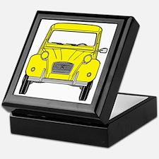 Citroen 2CV front yellow Keepsake Box