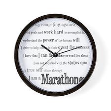 I Am a Marathoner Wall Clock