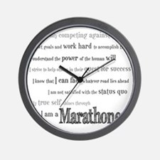 I Am a Marathoner Wall Clock