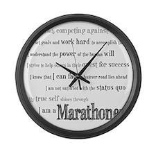 I Am a Marathoner Large Wall Clock