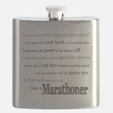 I Am a Marathoner Flask