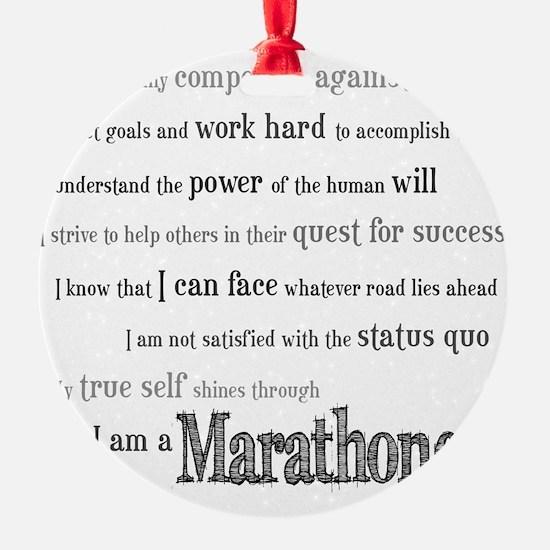 I Am a Marathoner Ornament